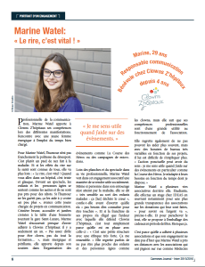 Article Portrait d'un engagement -Carenews -page 1
