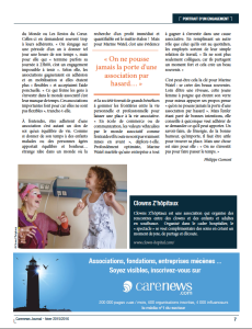 Article Portrait d'un engagement -Carenews -page 2